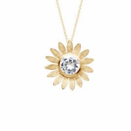 G7564-kultainen-kaulakoru-riipus-kukka-kirkas-kivi-onneli-ja-anneli-koru-ystävyys-tammi-jewellery-finnish-design-shop-verkkokauppa-koru