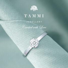 Tammi-Jewellery-valkokultainen timanttisormus-Pretty-WG10124 kihlasormus vihkisormus kultainen finnish design koru