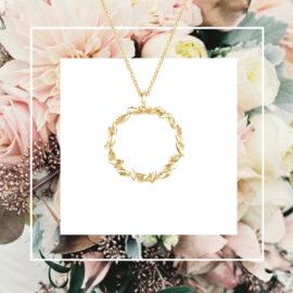 G7574-Kultainen-kaulakoru-Seppele-riipus-M-flower-crown-Tammi-Jewellery-Tammen-koru-finnish-design-verkkokauppa